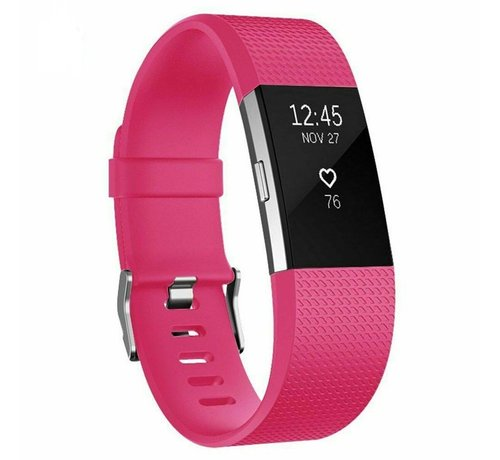 Strap-it® Strap-it® Fitbit Charge 2 siliconen bandje (knalroze)