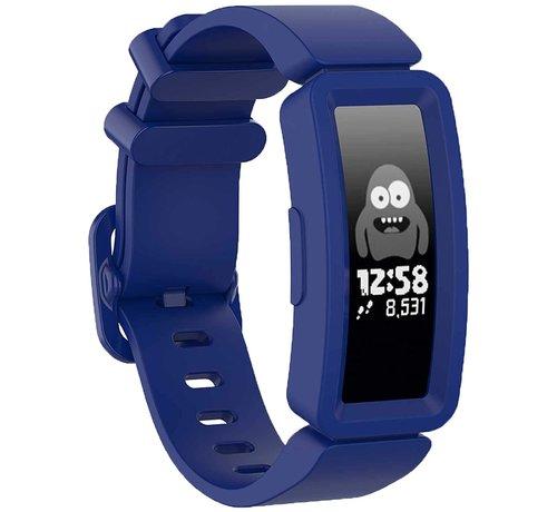 Strap-it® Strap-it® Fitbit Ace 2 siliconen bandje (donkerblauw)