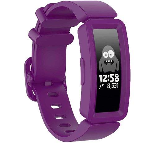 Strap-it® Strap-it® Fitbit Ace 2 siliconen bandje (paars)