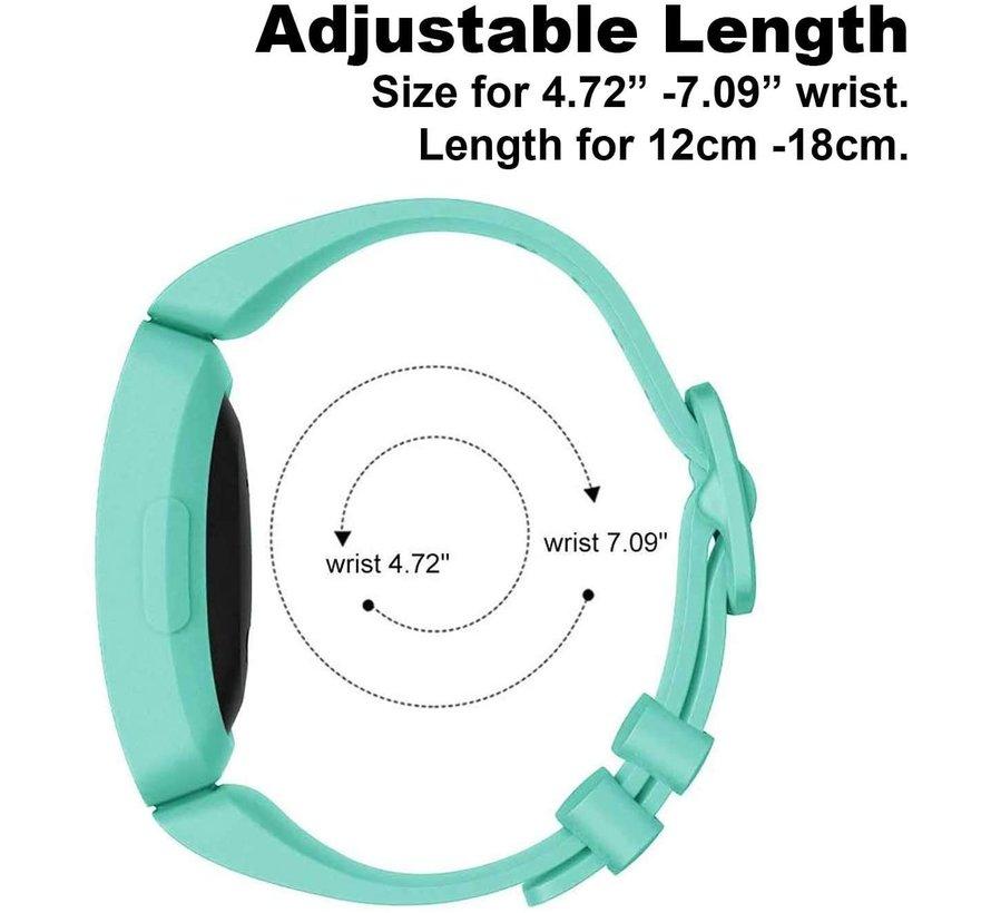 Strap-it® Fitbit Ace 2 siliconen bandje (aqua)