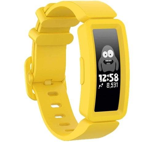 Strap-it® Strap-it® Fitbit Ace 2 siliconen bandje (geel)