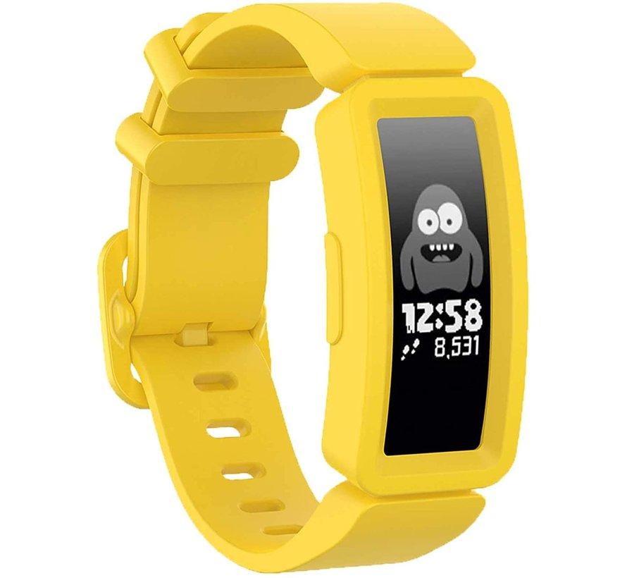 Strap-it® Fitbit Ace 2 siliconen bandje (geel)