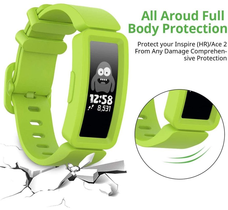 Strap-it® Fitbit Ace 2 siliconen bandje (lichtgroen)