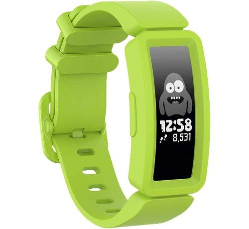 Strap-it® Strap-it® Fitbit Ace 2 siliconen bandje (lichtgroen)