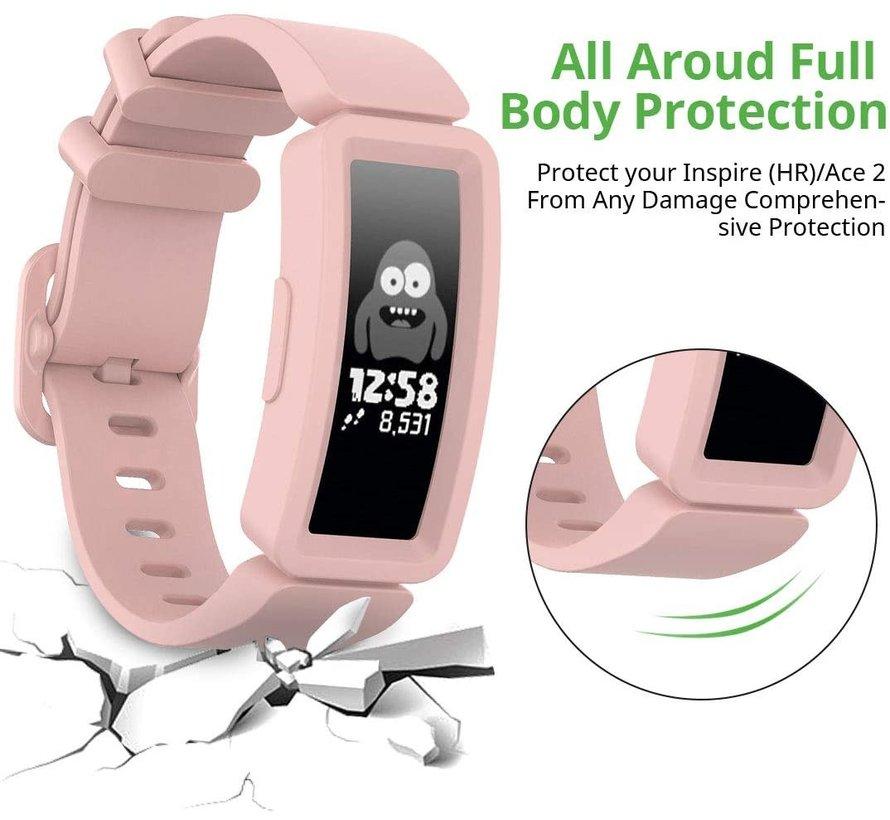 Strap-it® Fitbit Ace 2 siliconen bandje (roze)