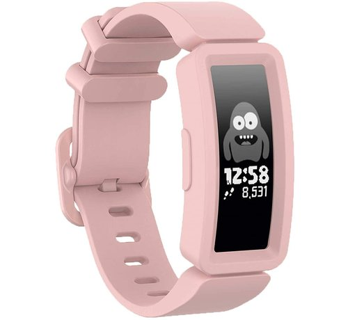 Strap-it® Strap-it® Fitbit Ace 2 siliconen bandje (roze)