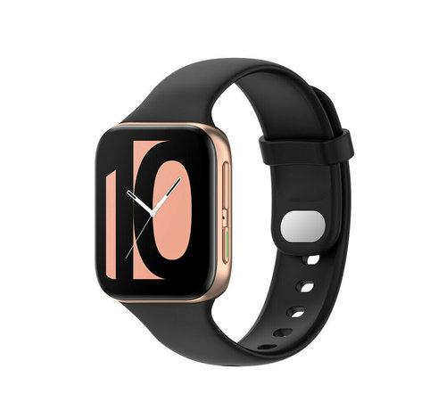 Strap-it® Strap-it® Oppo Watch siliconen bandje (zwart)