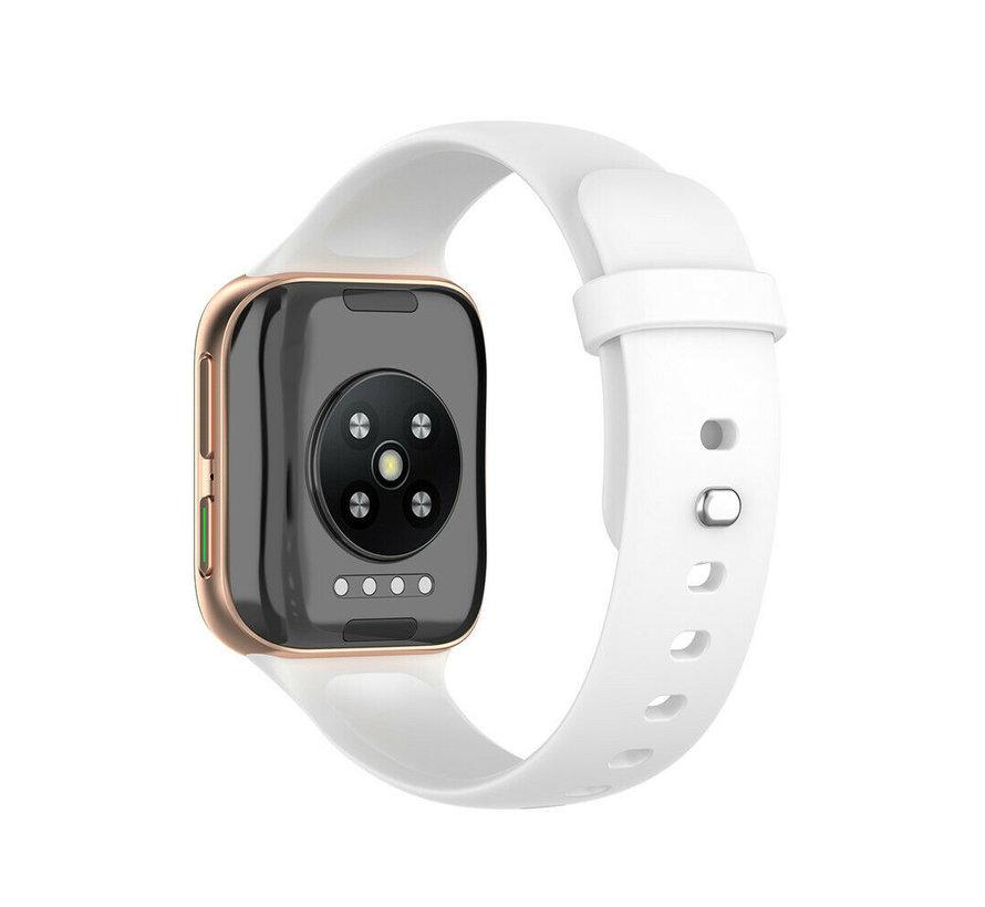Strap-it® Oppo Watch siliconen bandje (wit)