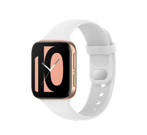 Strap-it® Strap-it® Oppo Watch siliconen bandje (wit)