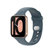 Strap-it® Oppo Watch siliconen bandje (grijsblauw)