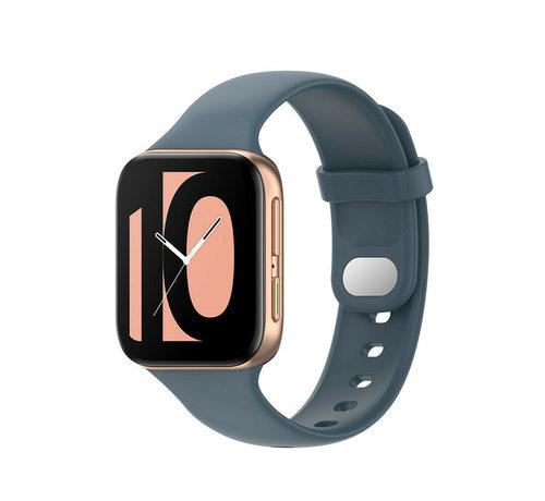 Strap-it® Strap-it® Oppo Watch siliconen bandje (grijsblauw)