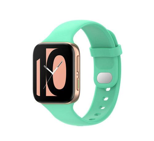 Strap-it® Strap-it® Oppo Watch siliconen bandje (aqua)