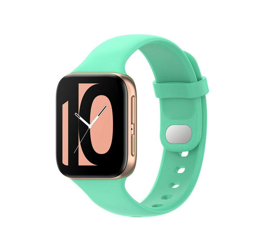 Strap-it® Oppo Watch siliconen bandje (aqua)