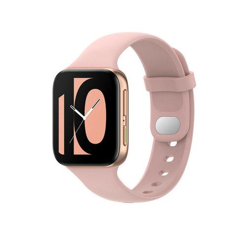 Strap-it® Strap-it® Oppo Watch siliconen bandje (roze)