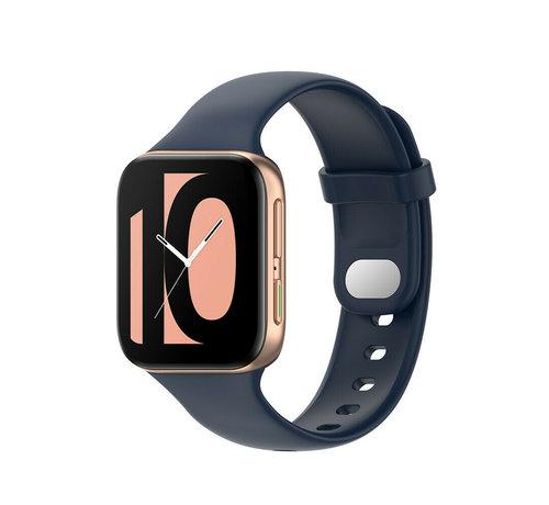 Strap-it® Strap-it® Oppo Watch siliconen bandje (donkerblauw)