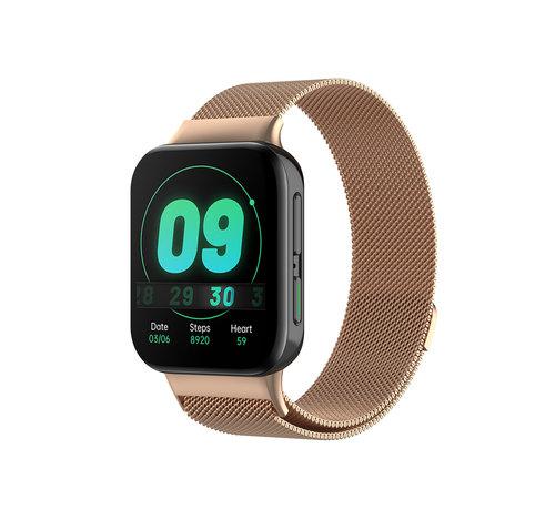 Strap-it® Strap-it® Oppo Watch Milanese band (rosé goud)