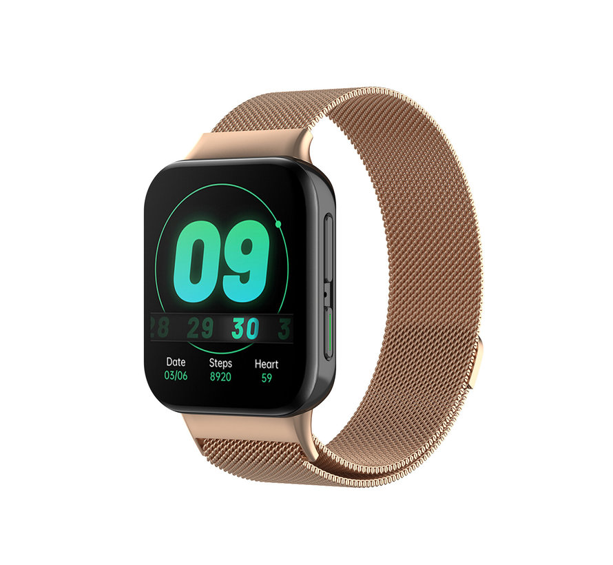 Strap-it® Oppo Watch Milanese band (rosé goud)