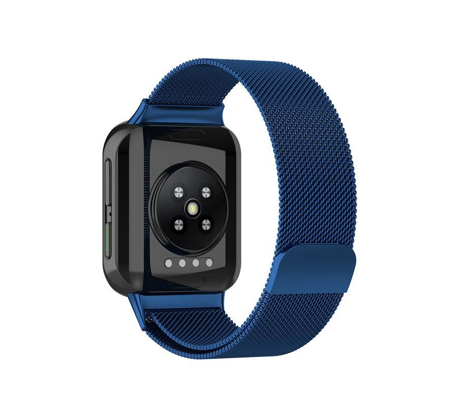 Strap-it® Oppo Watch Milanese band (blauw)