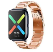 Strap-it® Oppo Watch stalen band (rosé goud)