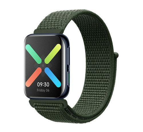 Strap-it® Strap-it® Oppo Watch nylon band (groen)