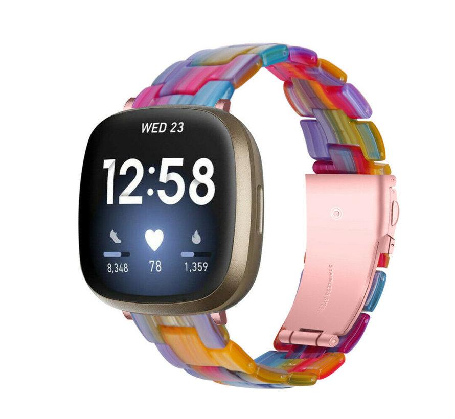 Strap-it® Fitbit Sense resin band (kleurrijk)