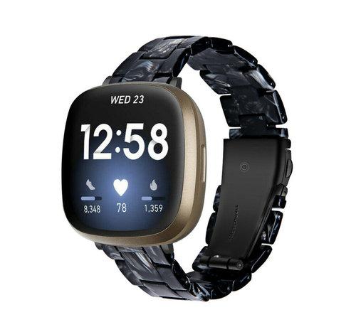 Strap-it® Strap-it® Fitbit Sense resin band (zwart/wit)