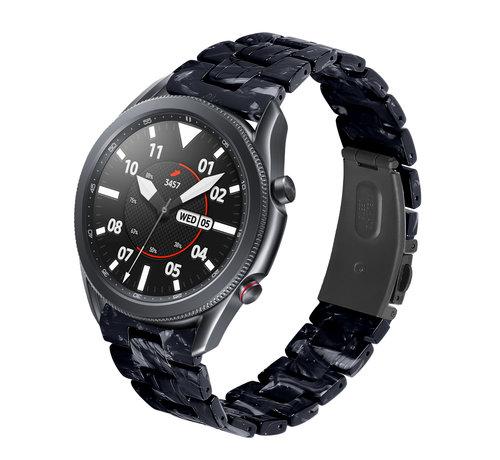 Strap-it® Strap-it® Samsung Galaxy Watch 3 45mm resin band (zwart/wit)