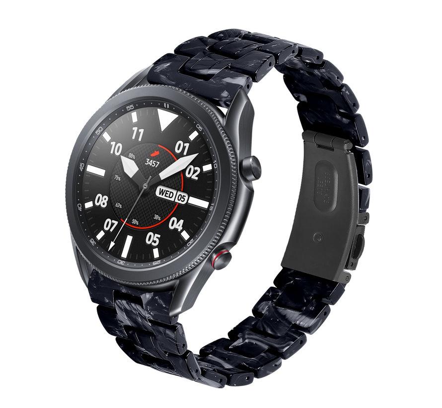 Strap-it® Samsung Galaxy Watch 3 45mm resin band (zwart/wit)