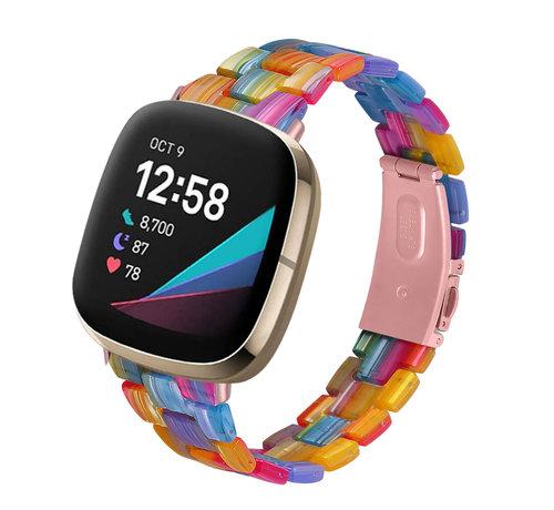 Strap-it® Strap-it® Fitbit Versa 3 resin band (kleurrijk)
