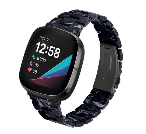 Strap-it® Strap-it® Fitbit Versa 3 resin band (zwart/wit)