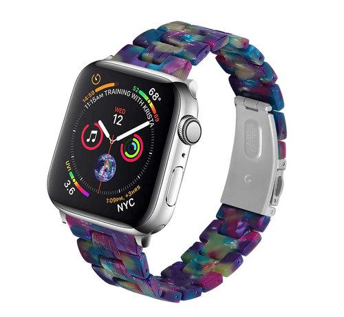 Strap-it® Strap-it® Apple Watch stalen band (kleurrijk paars)