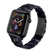 Strap-it® Apple Watch resin band (zwart/wit)