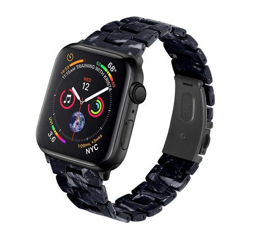 Strap-it® Strap-it® Apple Watch stalen band (zwart/wit)