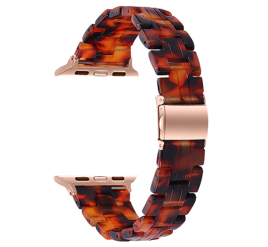 Strap-it® Apple Watch stalen band (lava)