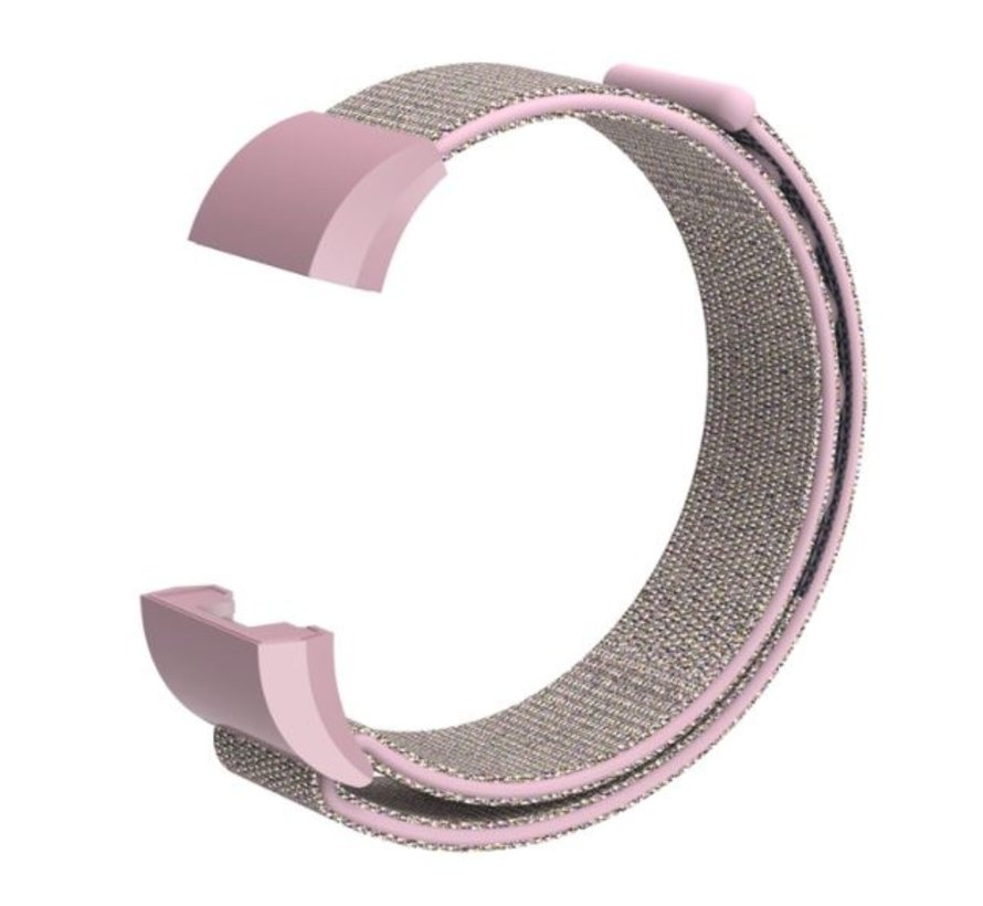 Strap-it® Fitbit Charge 2 nylon bandje (pink sand)