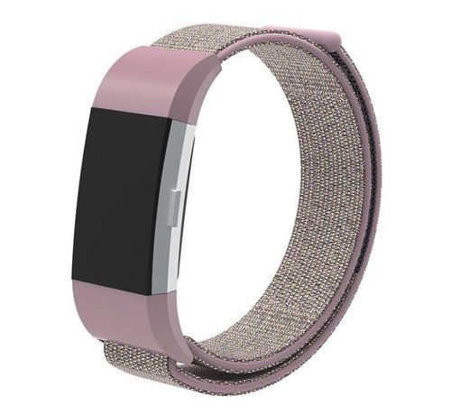 Strap-it® Strap-it® Fitbit Charge 2 nylon bandje (pink sand)