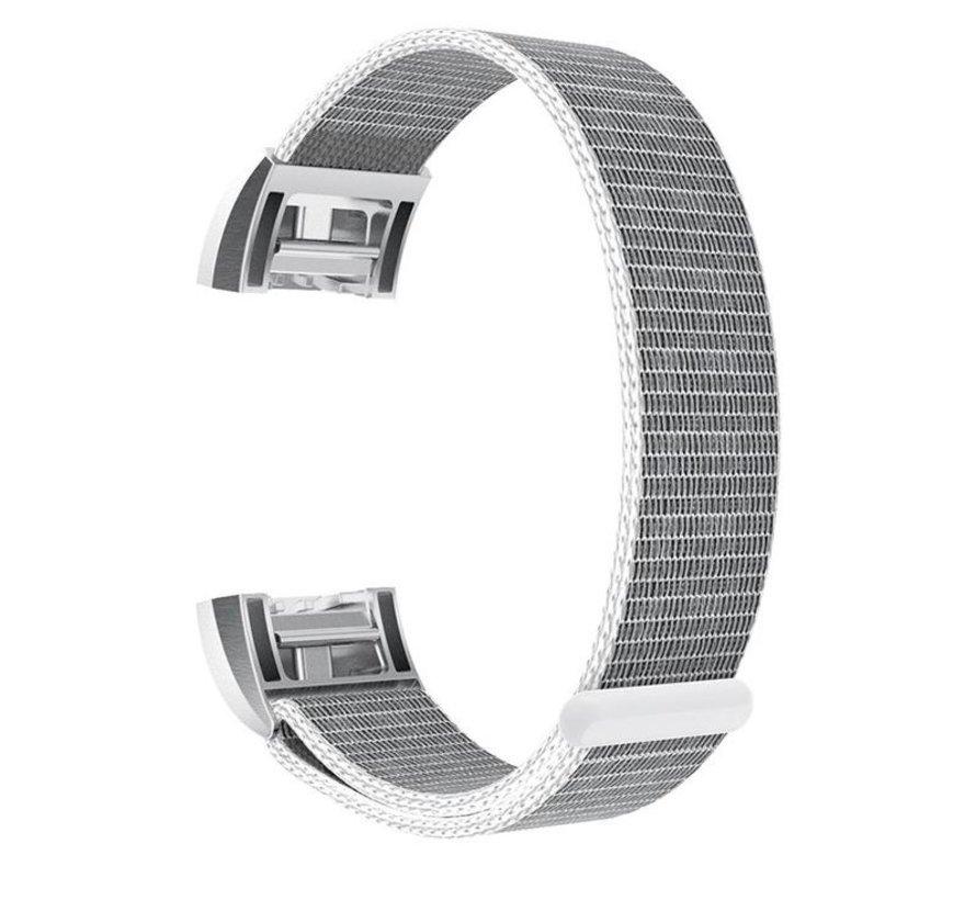 Strap-it® Fitbit Charge 2 nylon bandje (zeeschelp)