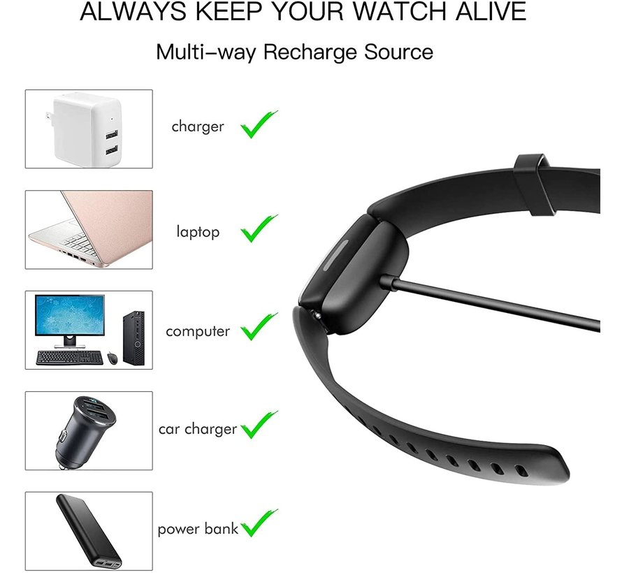 Strap-it® Fitbit Ace 3 oplader / oplaadkabel