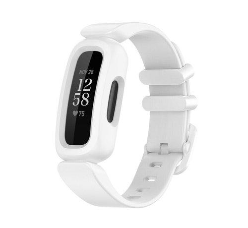 Strap-it® Strap-it® Fitbit Ace 3 siliconen bandje (wit)