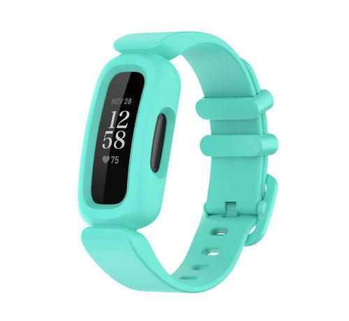 Strap-it® Strap-it® Fitbit Ace 3 siliconen bandje (aqua)