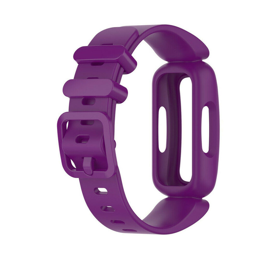 Strap-it® Fitbit Ace 3 siliconen bandje (paars)