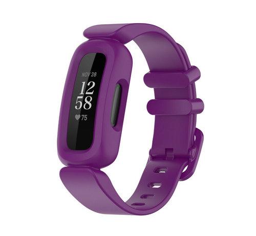 Strap-it® Strap-it® Fitbit Ace 3 siliconen bandje (paars)