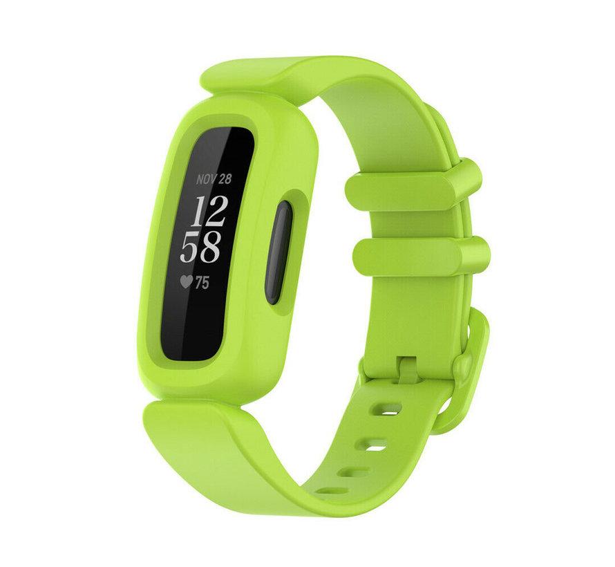 Strap-it® Fitbit Ace 3 siliconen bandje (lichtgroen)