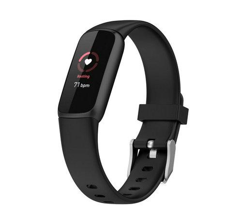 Strap-it® Strap-it® Fitbit Luxe siliconen bandje (zwart)
