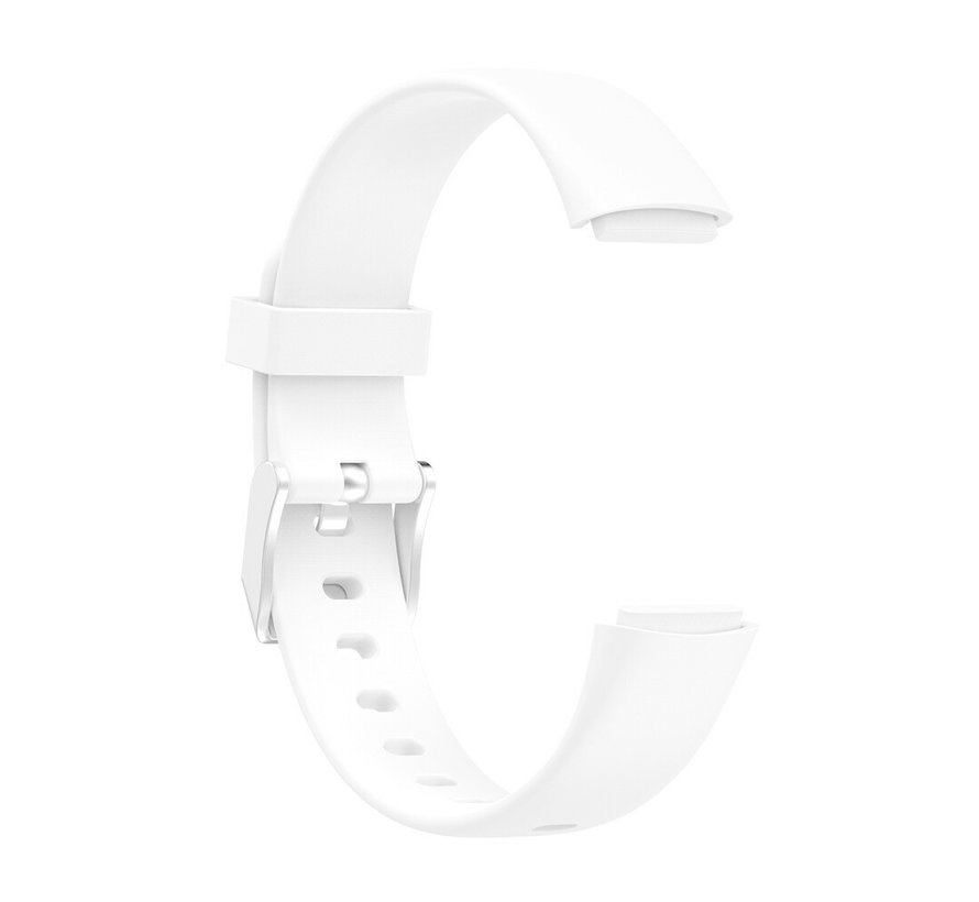 Strap-it® Fitbit Luxe siliconen bandje (wit)