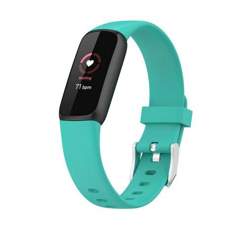 Strap-it® Strap-it® Fitbit Luxe siliconen bandje (aqua)