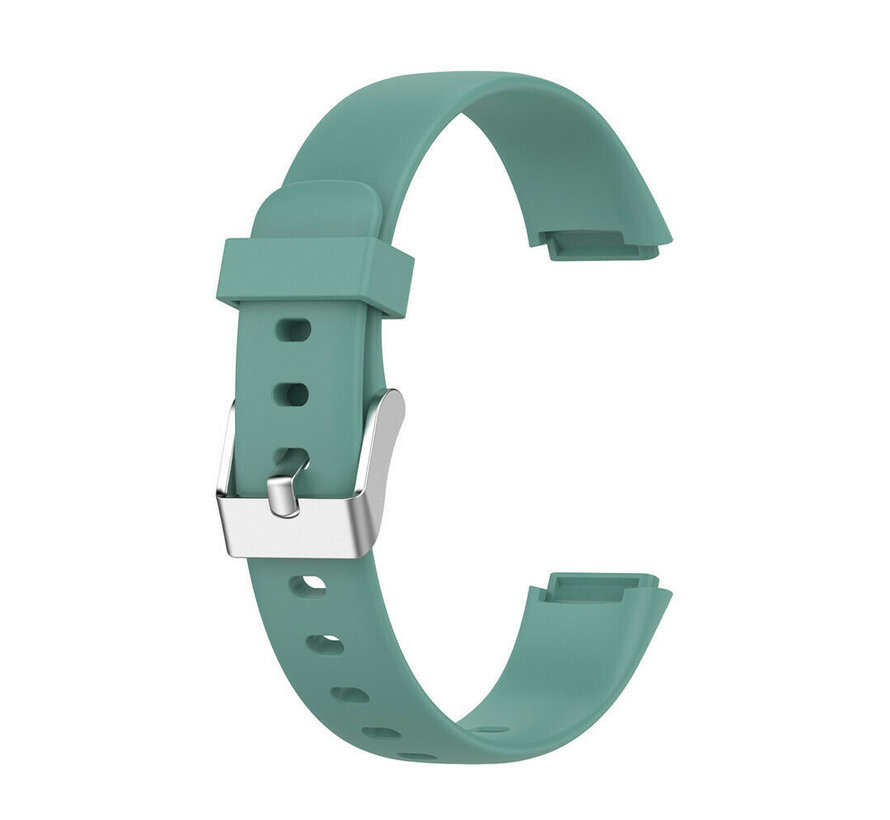 Strap-it® Fitbit Luxe siliconen bandje (dennengroen)
