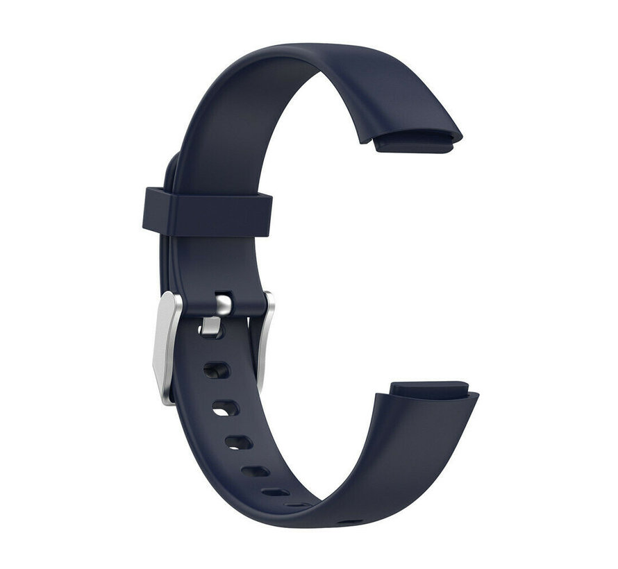 Strap-it® Fitbit Luxe siliconen bandje (donkerblauw)