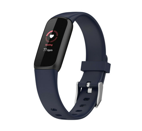 Strap-it® Strap-it® Fitbit Luxe siliconen bandje (donkerblauw)