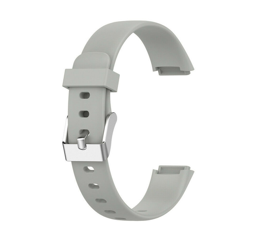 Strap-it® Fitbit Luxe siliconen bandje (grijs)